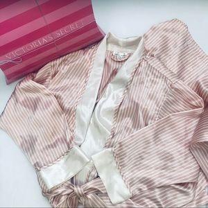 Classic Victoria's Secret VS Striped Satin Robe OG